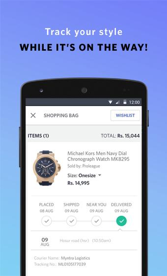 Android Myntra Online Shopping App Screen 8