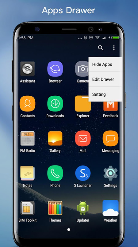 Android S S9 Launcher - Galaxy S8/S9 Launcher, theme, cool Screen 1