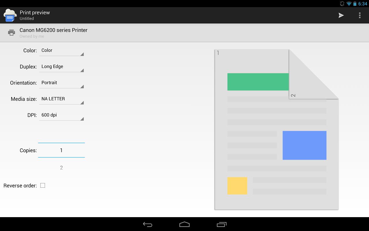 Cloud Print 0.9.2 Screen 2