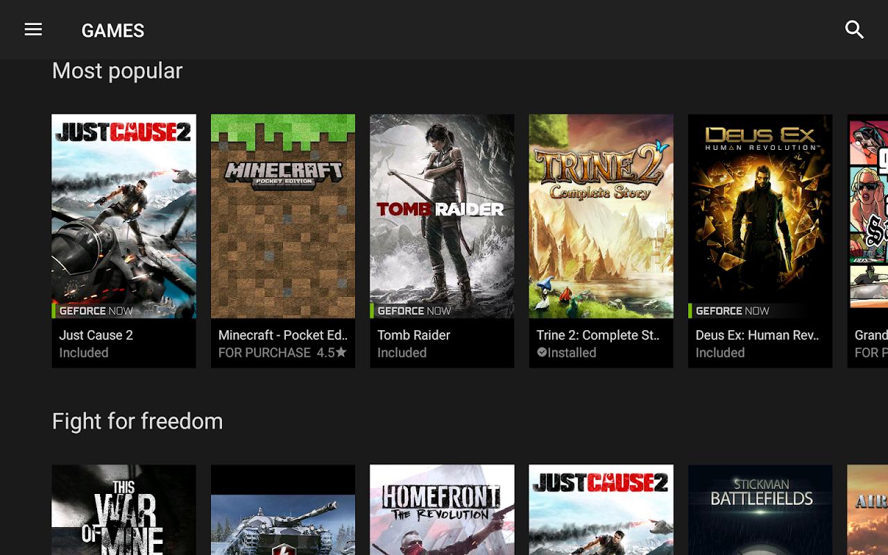 NVIDIA Games 6.0 Screen 2