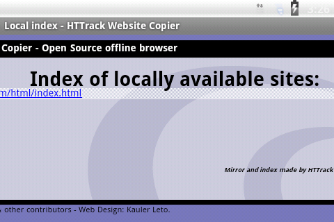 HTTrack Website Copier 3.49.02.63 Screen 9