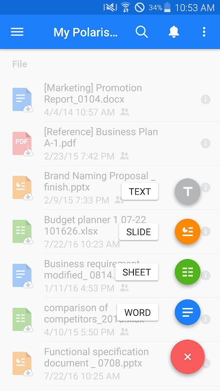 Android Polaris Office - Word, Docs, Sheets, Slide, PDF Screen 25