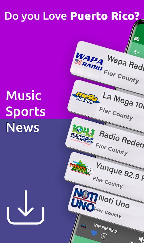 Android Free Puerto Rico Radio AM FM Screen 1