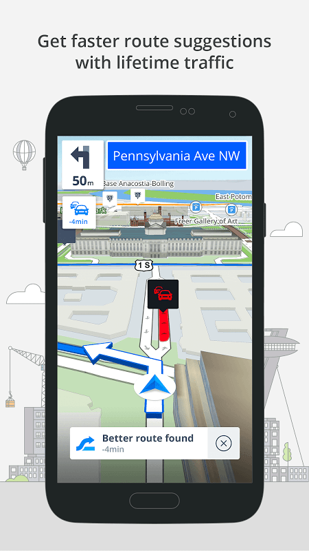 Android Sygic: GPS, Navigation, Offline Maps & Directions Screen 1