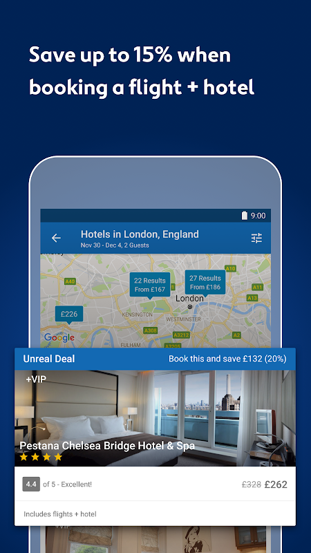 Expedia Hotels, Flights, Car Hires & Activities 18.46.1 Screen 9