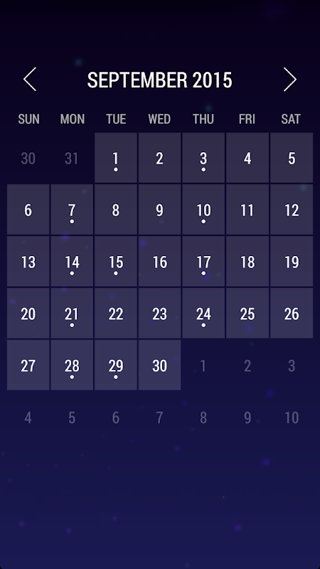 Android Calendar Widget: Month Screen 1