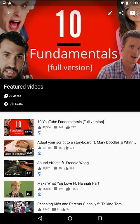 YouTube Creator Studio 1.8.4 Screen 8