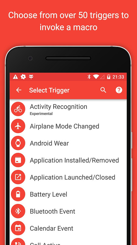 Android MacroDroid - Device Automation Screen 1