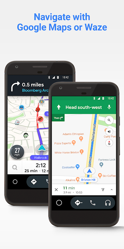 Android Android Auto - Google Maps, Media & Messaging Screen 1