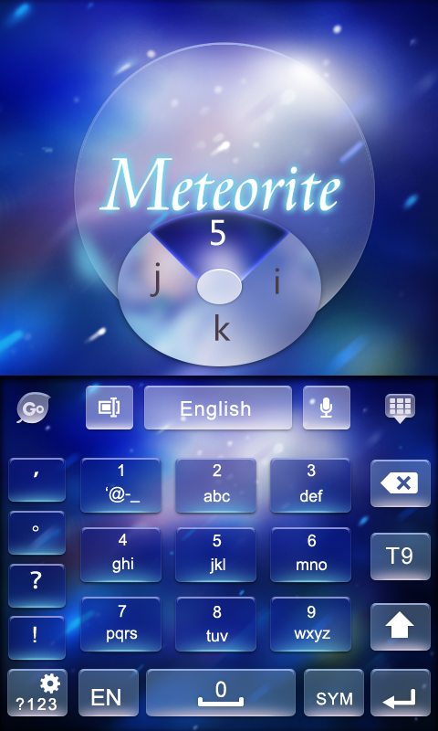 Meteorite GO Keyboard Theme 3 2 APK Download by Art Dev | Android APK