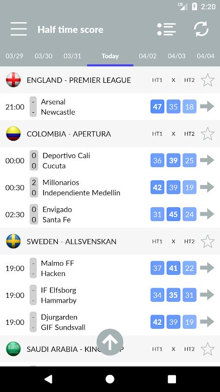 Soccer Predictions 2.2.3 Screen 5