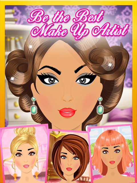 Android Fashion Makeover Salon: Princess Makeup Screen 3