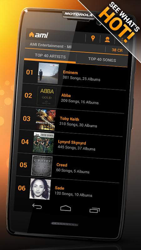 AMI Music (formerly BarLink) 2.28.1 Screen 5
