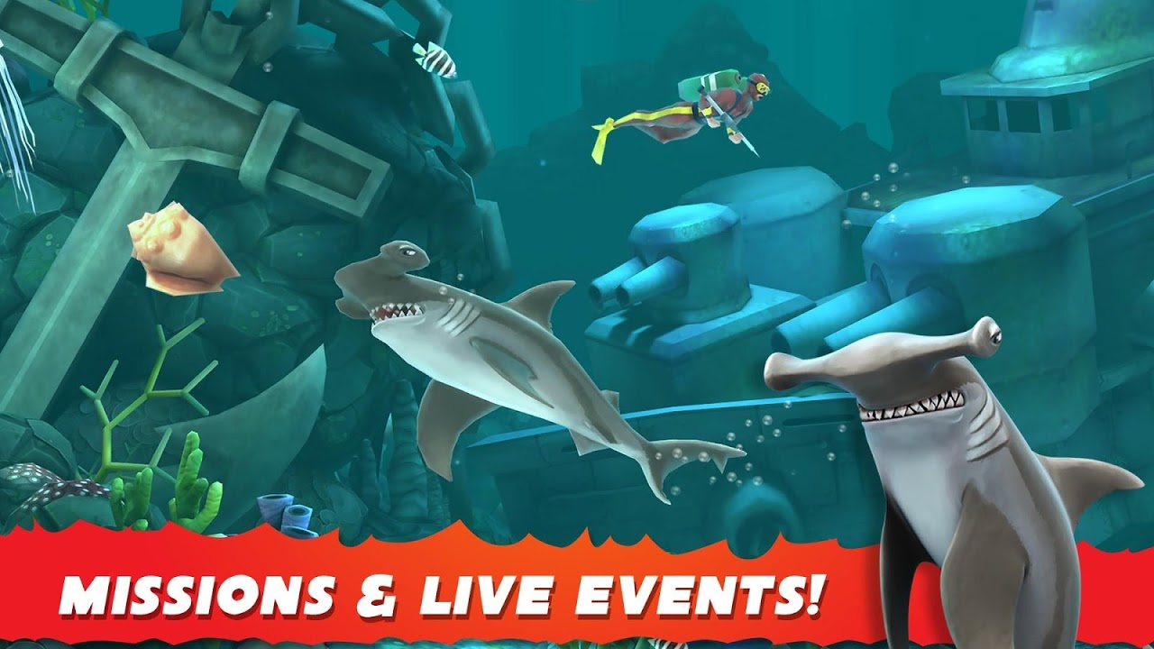 Android Hungry Shark Evolution (Mod) Screen 5