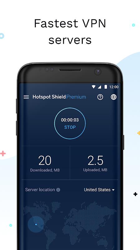 Android Hotspot Shield Screen 1