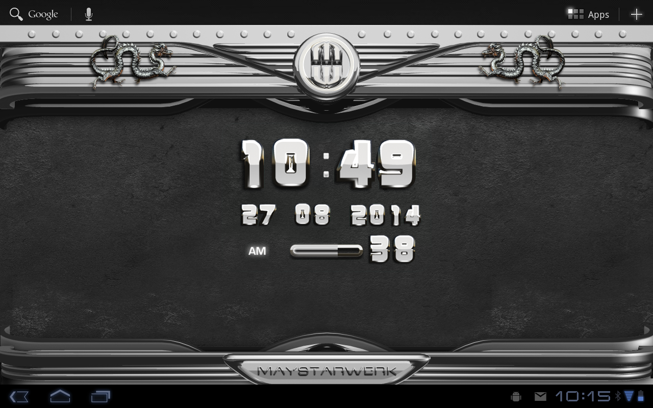 Android Dragon Clock Widget white Screen 9