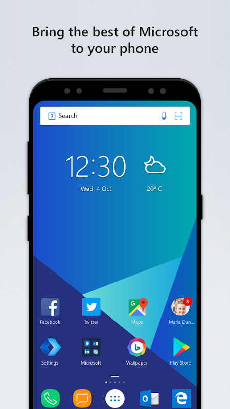 Android Microsoft Launcher Screen 2