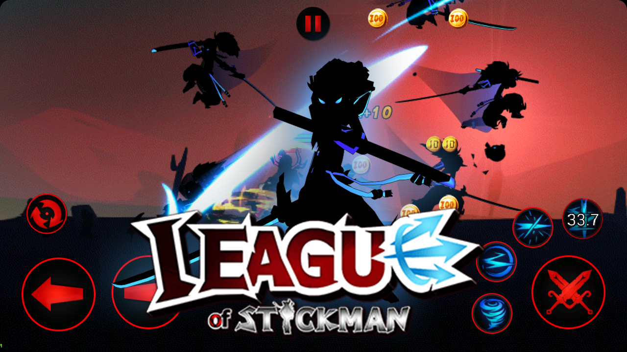 Android League of Stickman 2018- Ninja Arena PVP(Dreamsky) Screen 3
