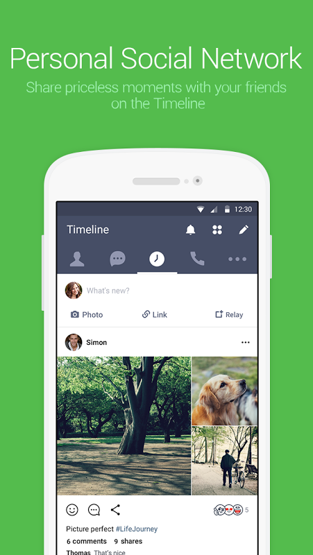 Android LINE: Free Calls & Messages Screen 5