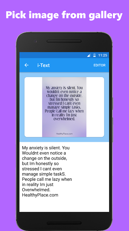 Android Image to text converter / text scanner Screen 2