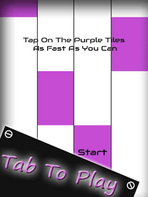 Android Piano Tile :Purple Magic Tap Screen 1