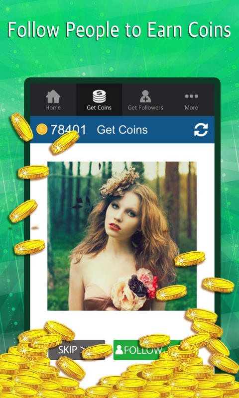 Android Turbo Followers for Instagram - get free insta followers on Instagram and 5000 IG follower app Screen 1
