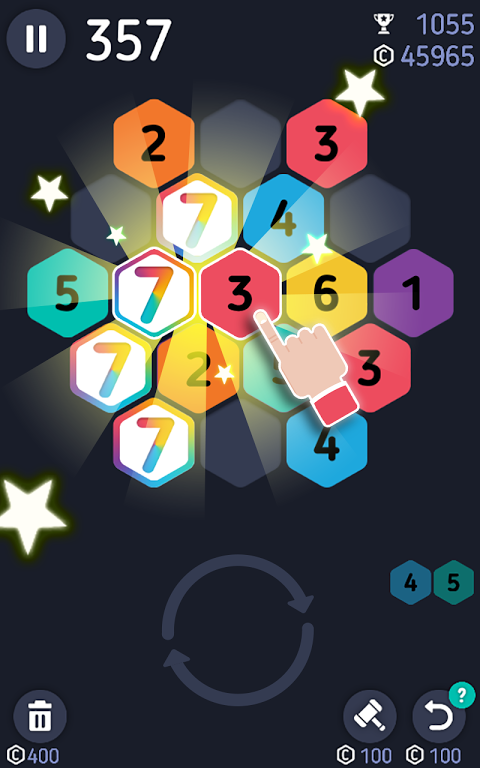 Android Make7! Hexa Puzzle Screen 1