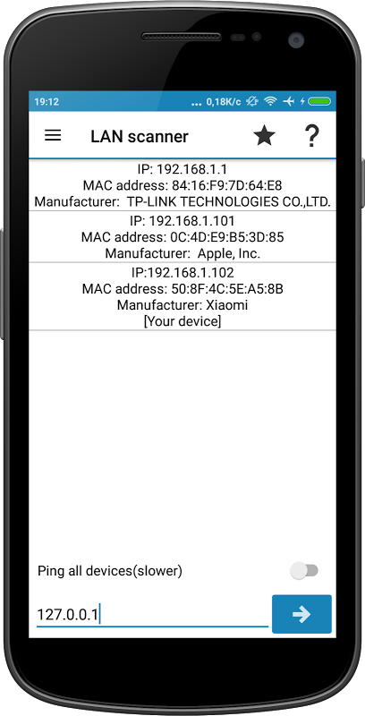 Android IP Tools: Network utilities Screen 5