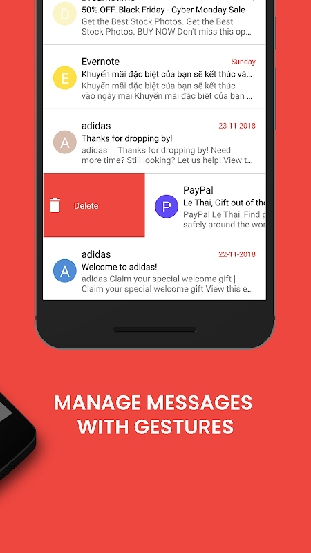 Android Email - Mail for Gmail Outlook & All Mailbox Screen 2