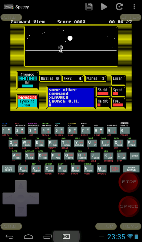 Speccy - ZX Spectrum Emulator 3.3.3 Screen 6