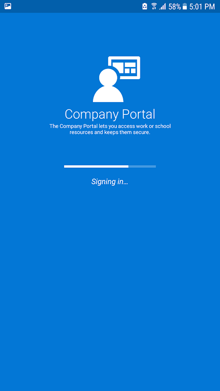 Intune Company Portal 5.0.4415.0 Screen 1