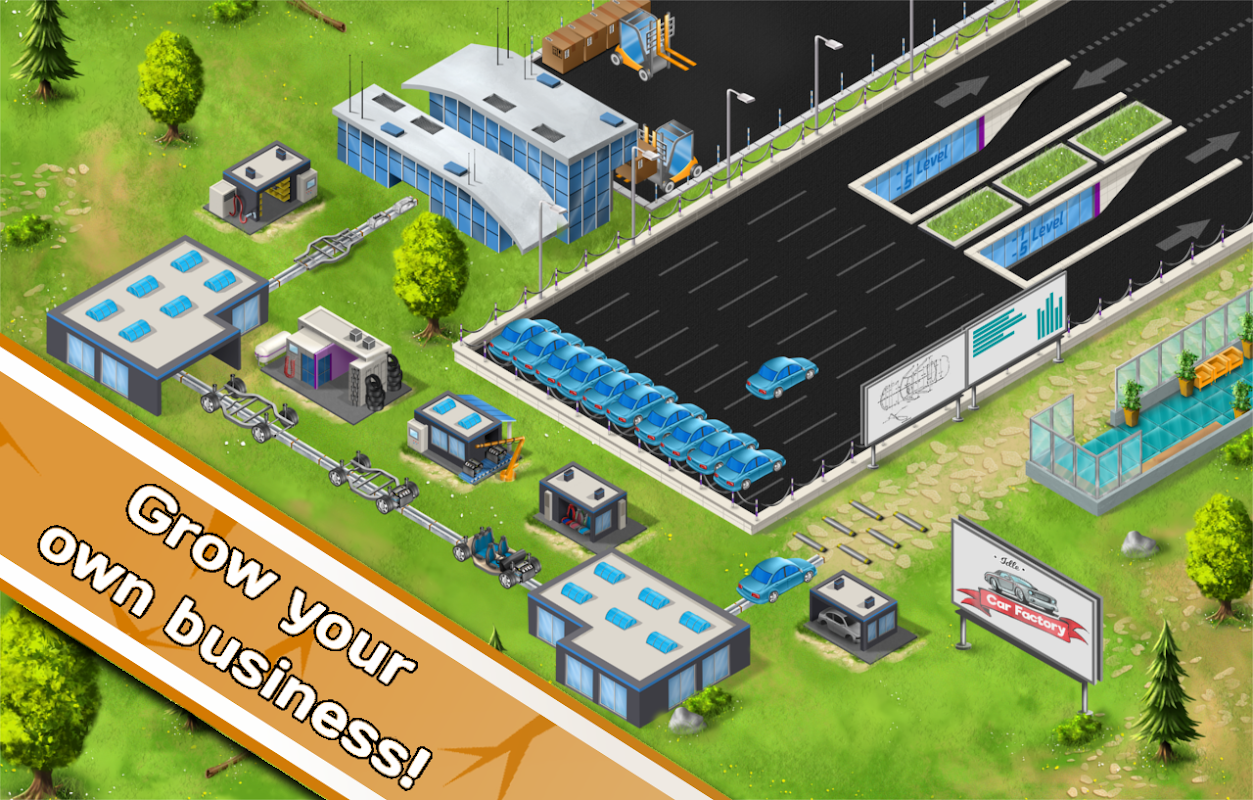 Android Idle Car Factory Screen 2