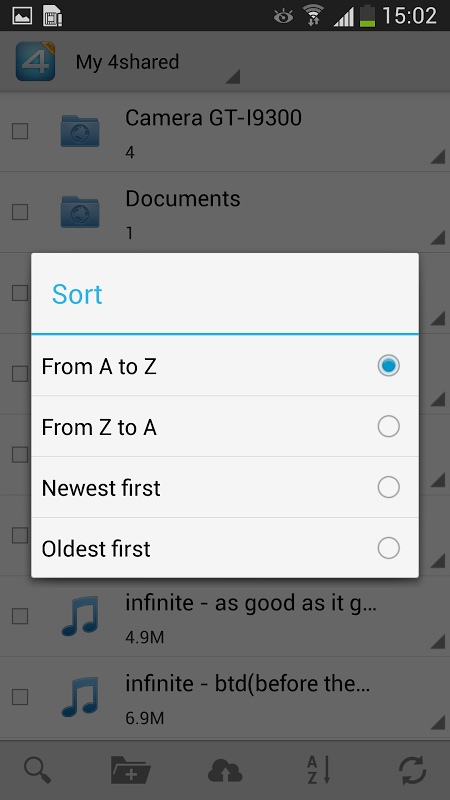 Android 4shared PRO:download any files Screen 5