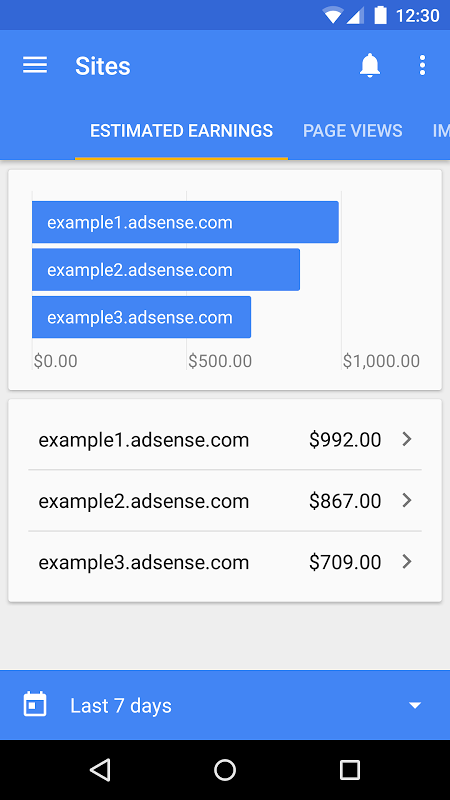 Android Google AdSense Screen 1