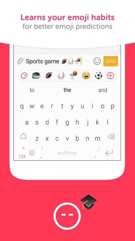 Android Swiftmoji - Emoji Keyboard Screen 4