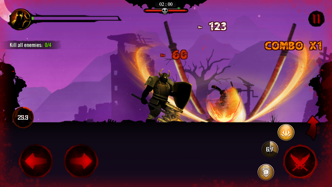 Android Shadow Stickman: Dark rising – Ninja warriors Screen 8