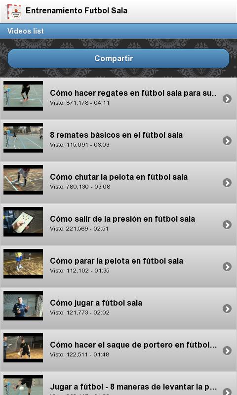 Entrenamiento Futbol Sala 1 05 APK Download by MejorApp