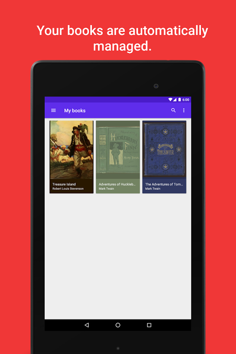 Android Lithium: EPUB Reader Screen 3