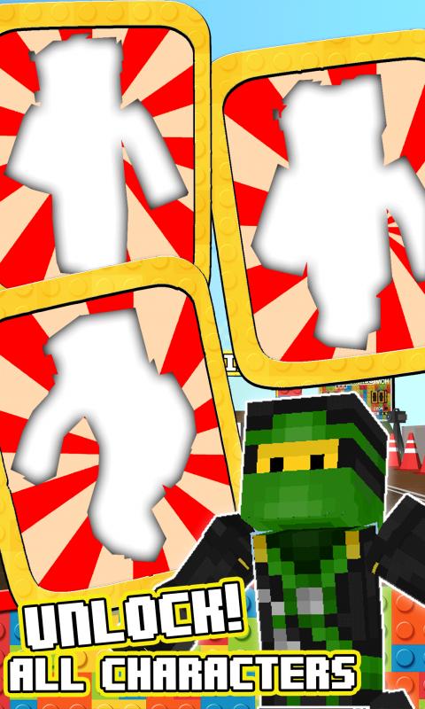 Lego Cartoon 3D Block Running Ninjago Minecraft Skins Adventure Games 1.0 Screen 2