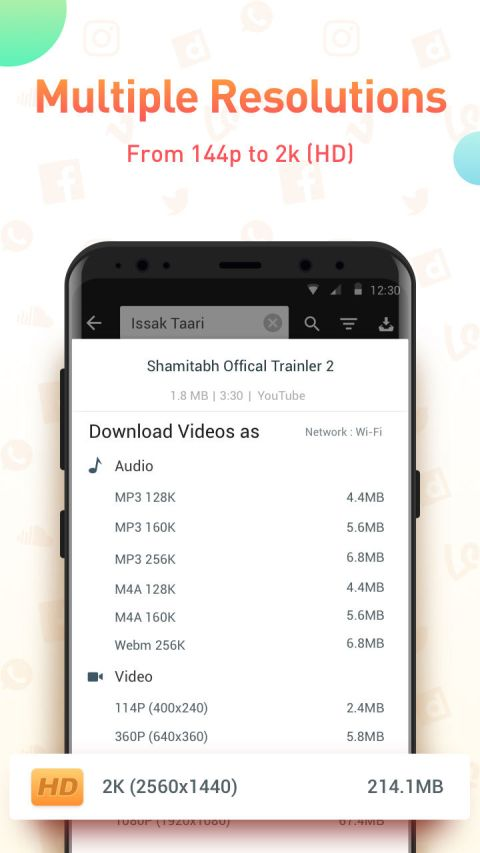 Youtube Video Downloader - SnapTube Pro 4.55.1.4551901 Screen 2
