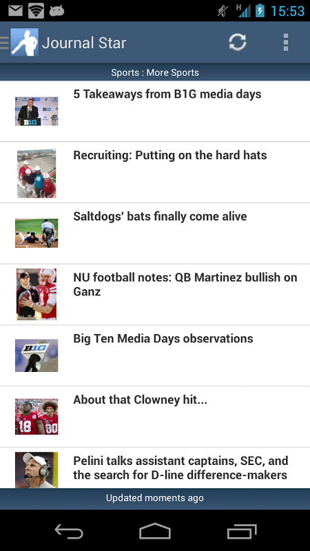 Android Journal Star Screen 1