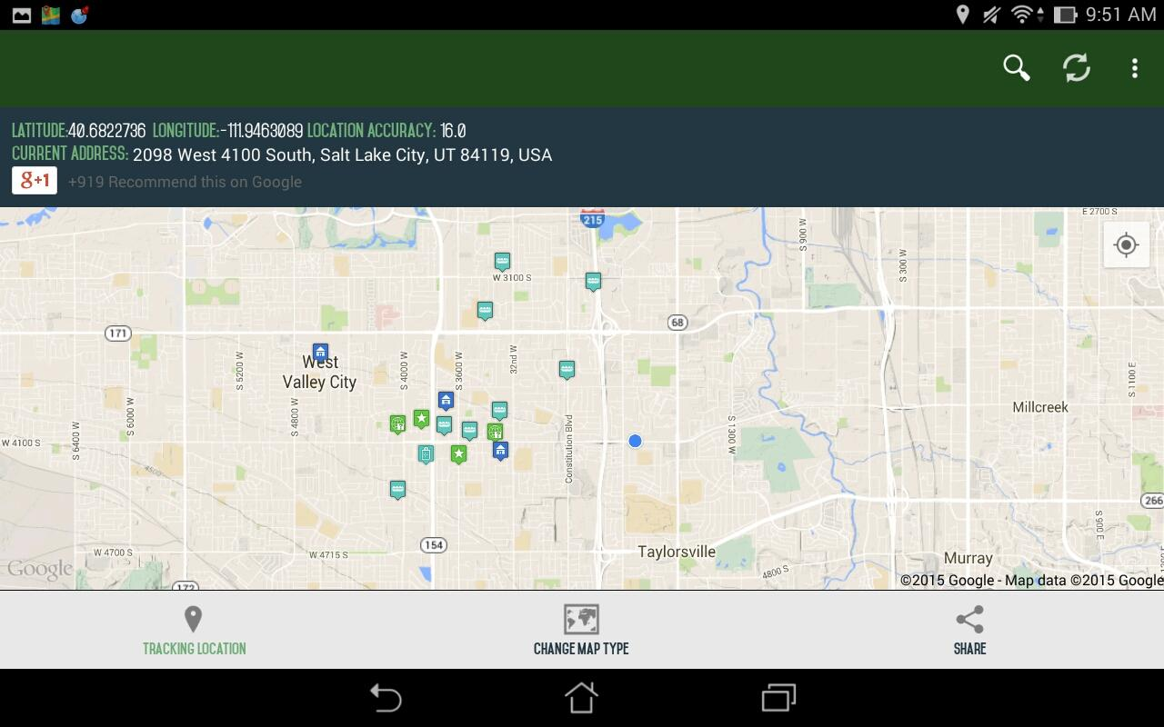 Android My Location Screen 2