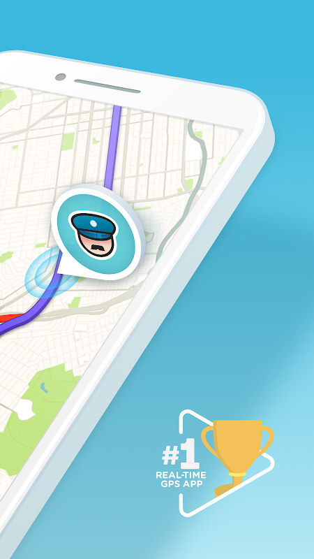Waze - GPS, Maps, Traffic Alerts & Sat Nav 4.45.0.0 Screen 1