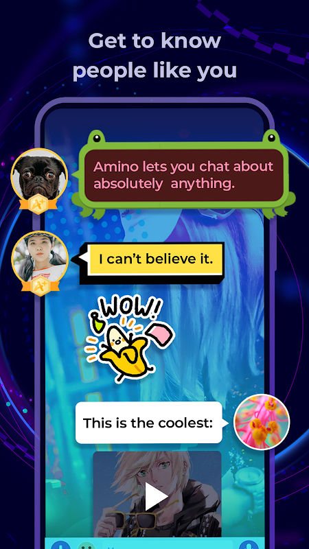 Amino: Communities and Chats 1.11.23334 Screen 2