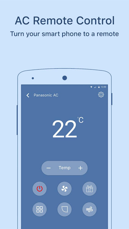 remote ac power control by android • ir universal tv remote • ir universal remote will replace your physical tv remote for good plus you can control other devices like air conditioners, fans, lights, and more this application will turn phones and tablets with a built in remote ir blaster into a fully functioning universal remote.