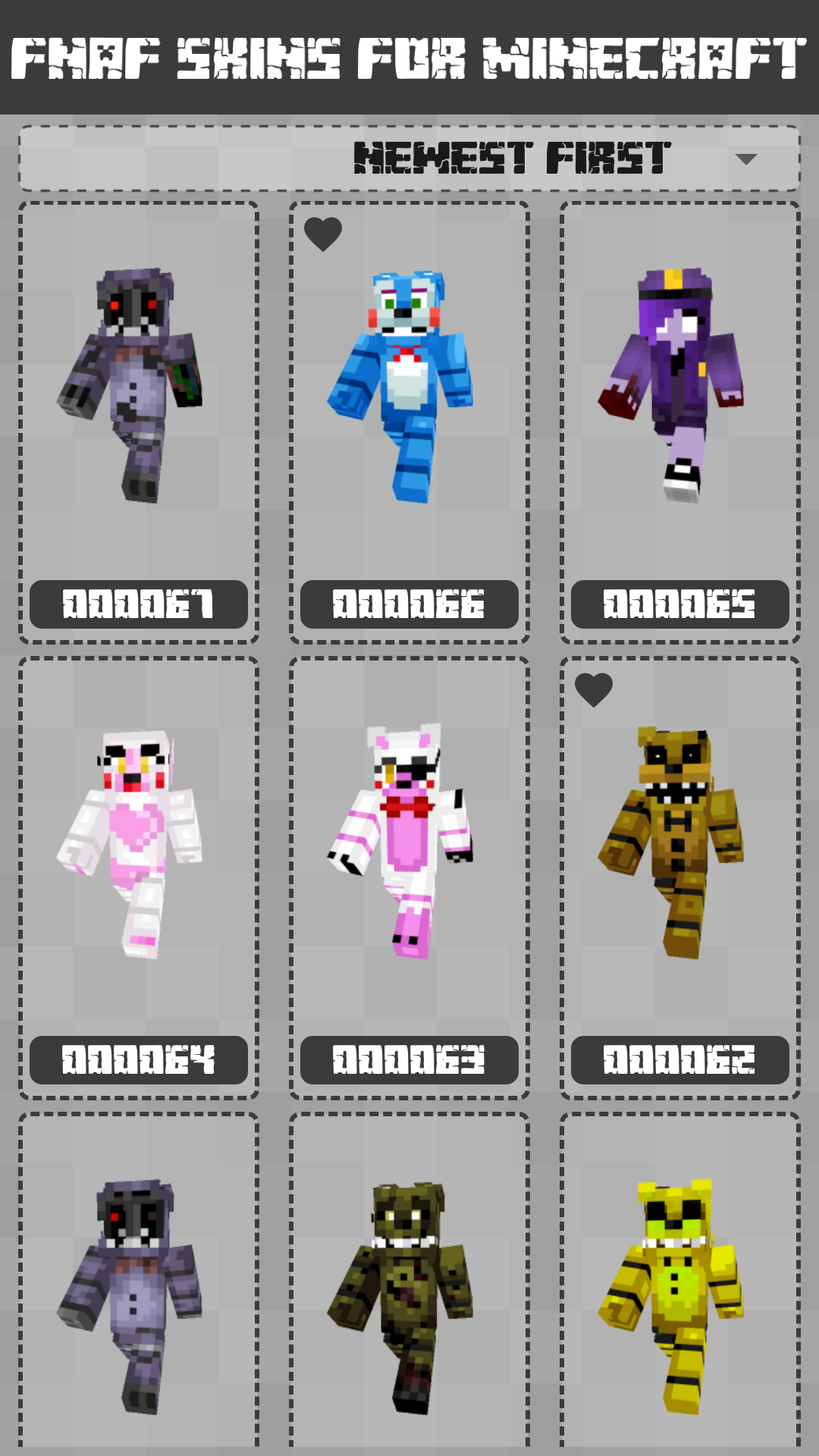 Android FNAF Skins for Minecraft PE Screen 1