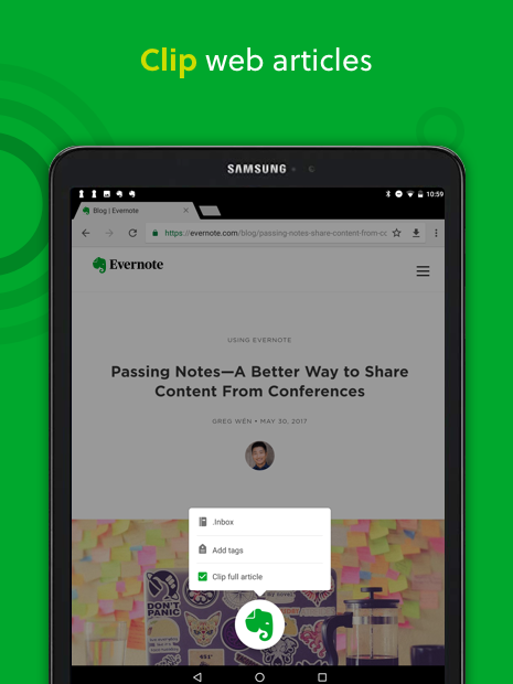 Android Evernote - stay organized. Screen 7