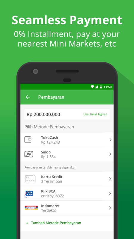 Android Tokopedia - Online Shopping, Pulsa & Payment Screen 4
