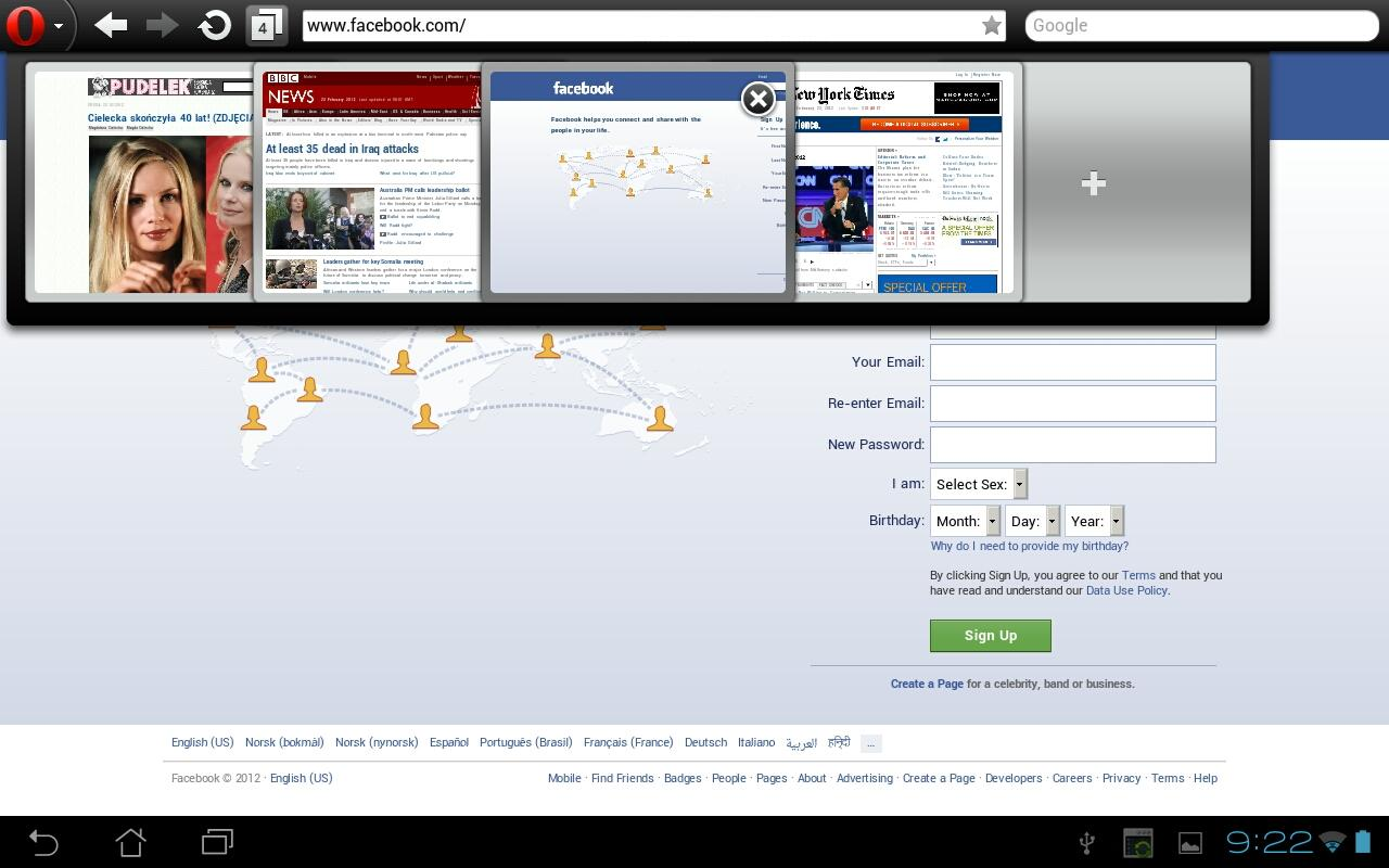Android Opera Mini web browser Screen 4