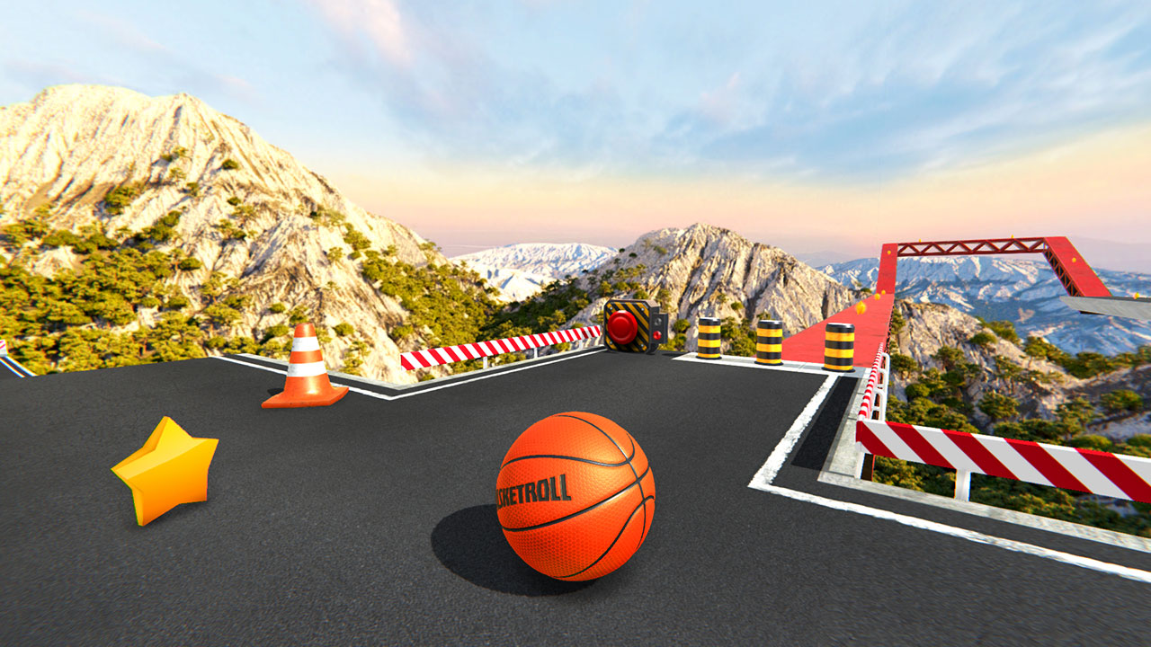 Android BasketRoll: Rolling Ball Game Screen 1